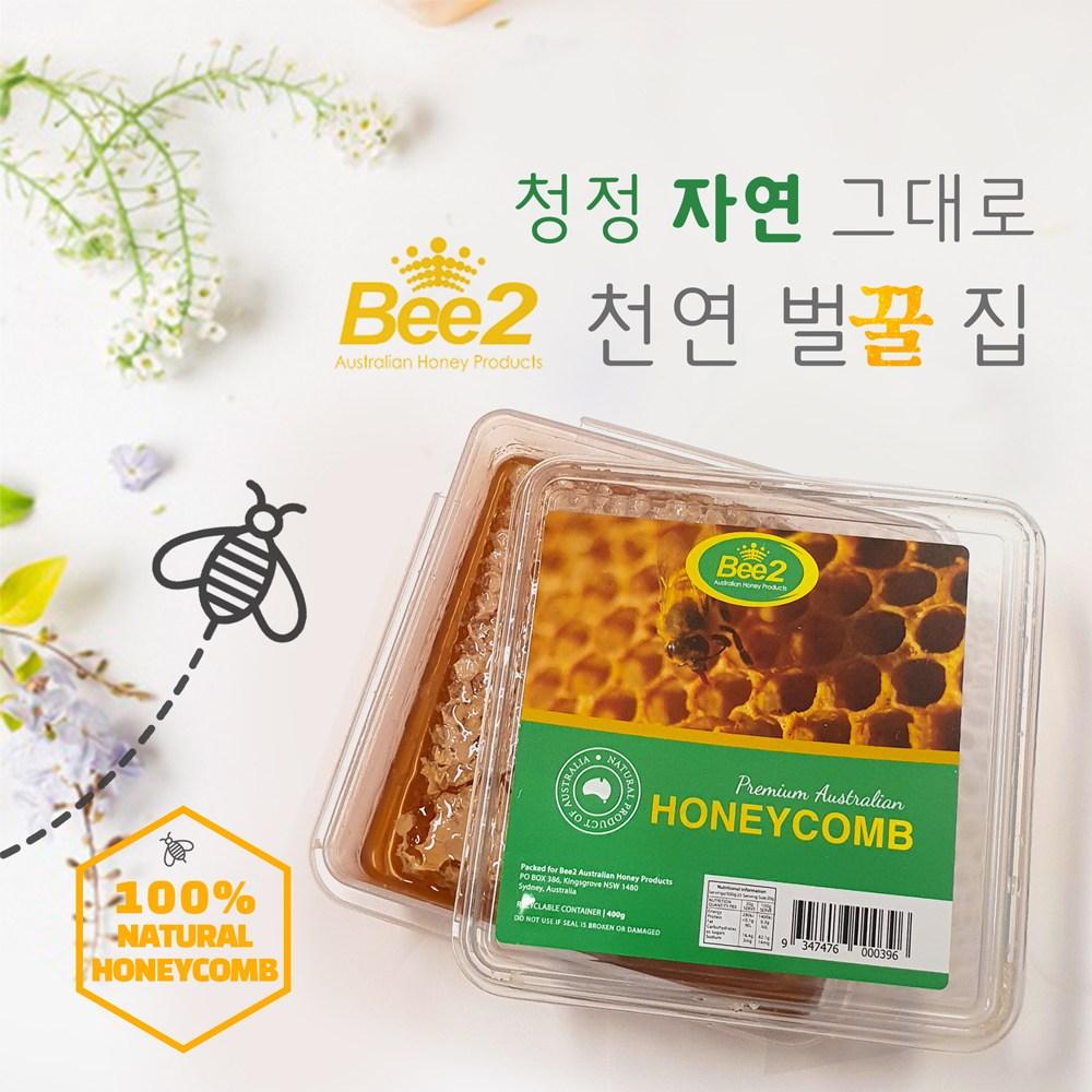 비투 Bee2 호주 천연꿀 허니콤 400g 1개