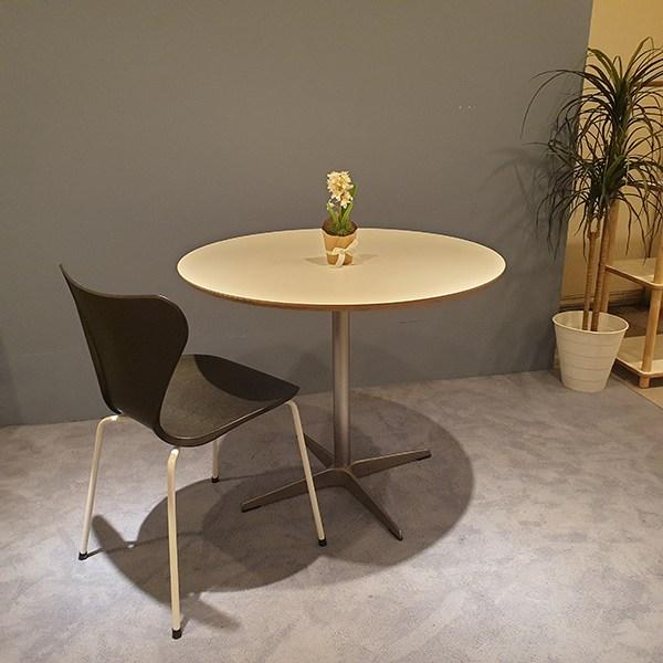 데코룸 아이언원형테이블 식탁테이블, 900사이즈(실버)