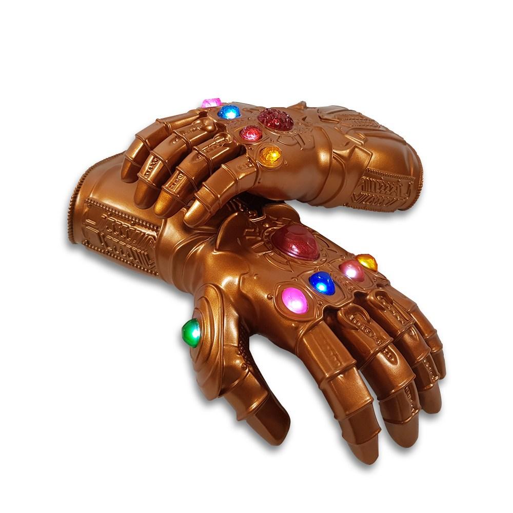 (국내발송) 타노스 건틀렛 장갑 손 팔 LED 어벤져스 인피니티 로봇장난감, 사이즈 S
