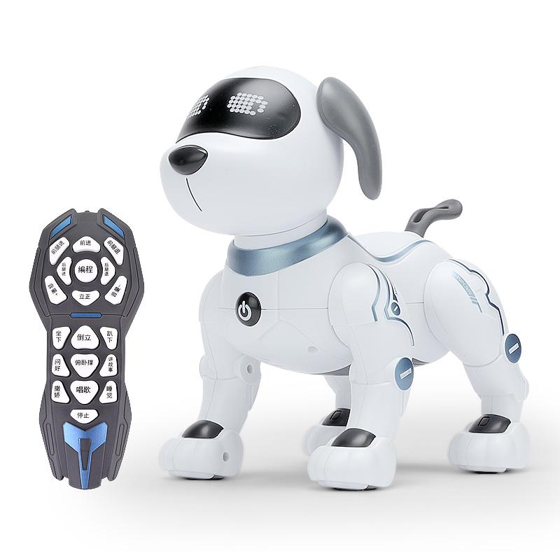 코코퍼피 스마트 강아지 로봇 개 원격 제어 어린이 장난감 생일선물, 원격 제어 스마트 스턴트 도그 [프로그래밍, 조기 교육, 터치 상호 작용 슈퍼 다기능] + 공식 표준 [충전식 배터리]