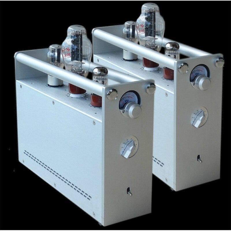 1 쌍 300B 튜브 스테레오 Amplificador 싱글 엔드 클래스 A 파워 300B 5U4C 6SN7 6H8C 밸브 튜브 DIY HIFI 앰프, 검정, 220V