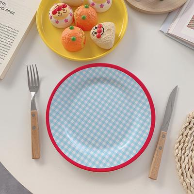 그릇 빈티지 레트로 복고 플레이팅 홈카페 접시, 접시A