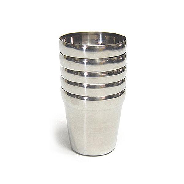선학 스텐컵 물컵5P세트 업소용물컵 스텐물컵 물잔 식당컵 식당스텐컵 식당용컵, 단일상품
