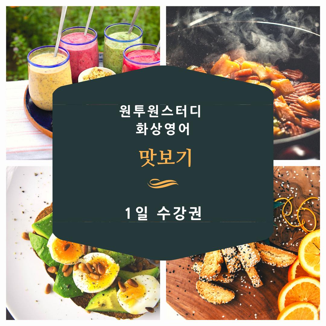 원투원스터디 화상영어 맛보기 수강권, 1, 맛보기 수업