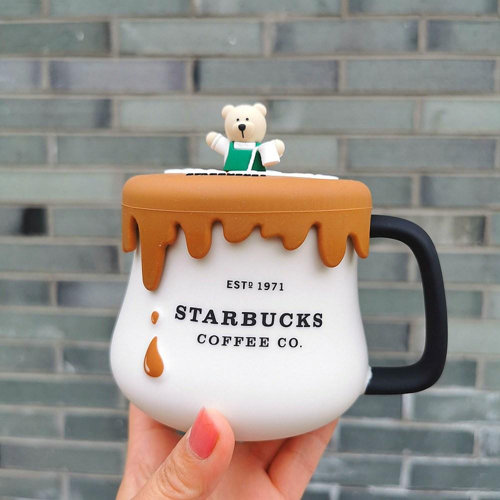 STARBUCKS [항공배송] 2020스타벅스머그컵 환경보호MD 뚜껑있는 스벅머그컵 커피잔 머그잔 400ml