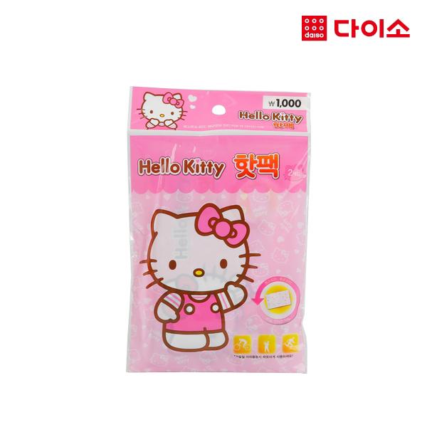 [다이소]헬로키티 주머니핫팩(2개입)-1010644, 단일상품