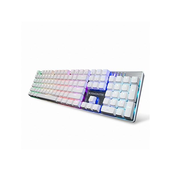 한성컴퓨터 MKF14S BOSSMONSTER TFG 키보드 화이트 (기계식 브론즈갈축), 선택하세요