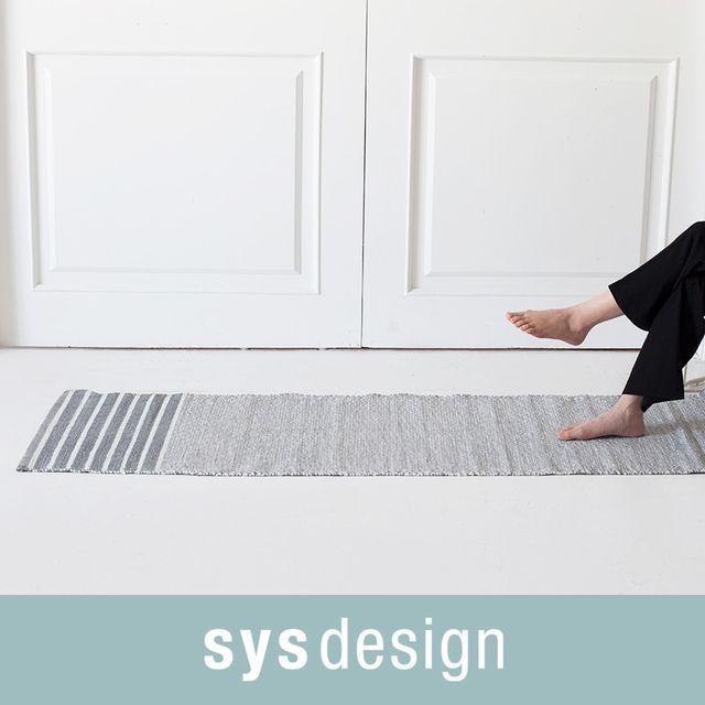 [천삼백케이] [시스디자인] 차임스 그레이 PVC 주방매트 50x170 (대)