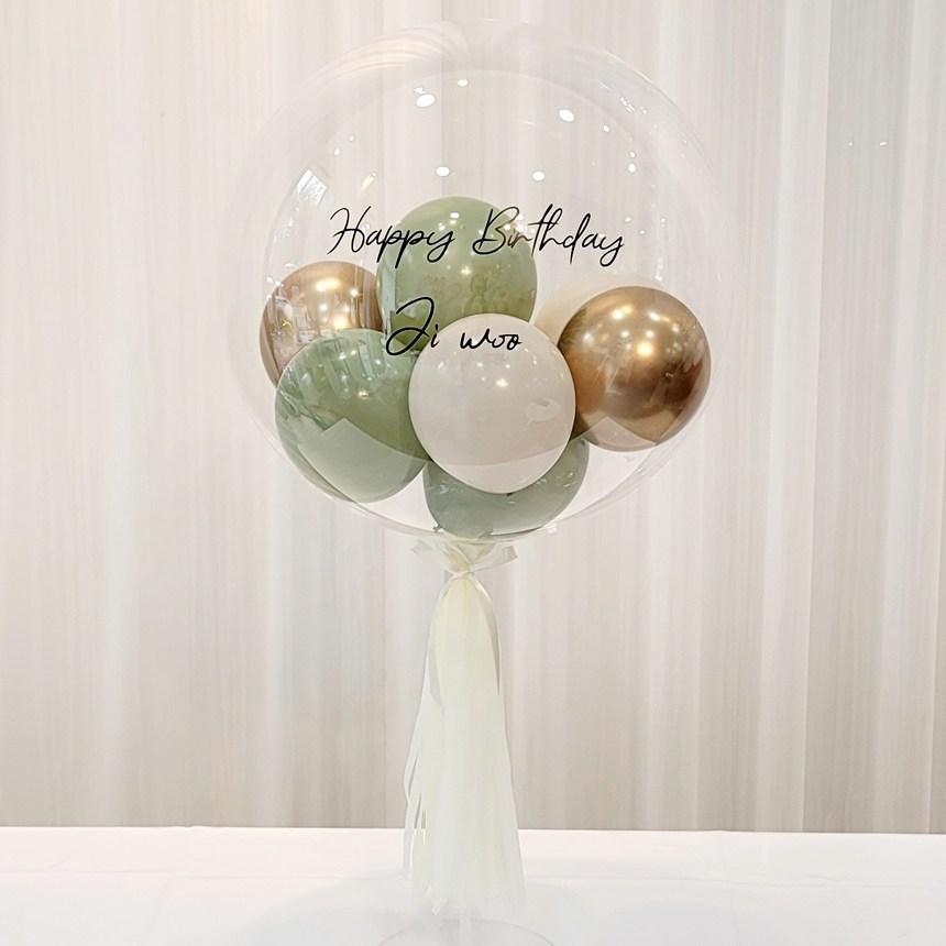 연지마켓 DIY 레터링풍선 용돈풍선 헬륨 효과 커스텀버블벌룬 파티 졸업 입학 축하 셀프 생일 선물 환갑, 2. 유칼립투스 18인치
