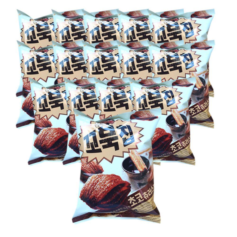 오리온 꼬북칩 초코츄러스맛 65g x 20개, 1