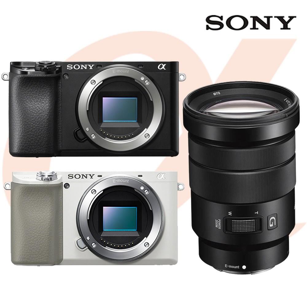 소니 알파 A6100 +E PZ 18-105mm F4 G OSS 렌즈 공식대리점 미러리스카메라, 블랙
