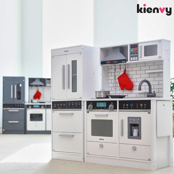 [키앤비] 더 셰프 마스터 주방놀이+프리미엄 냉장고 세트, 색상선택:화이트