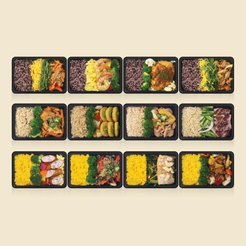 [샐러드보울] 프리미엄 혼밥 냉동도시락 넉넉소반 12종 세트, 1세트
