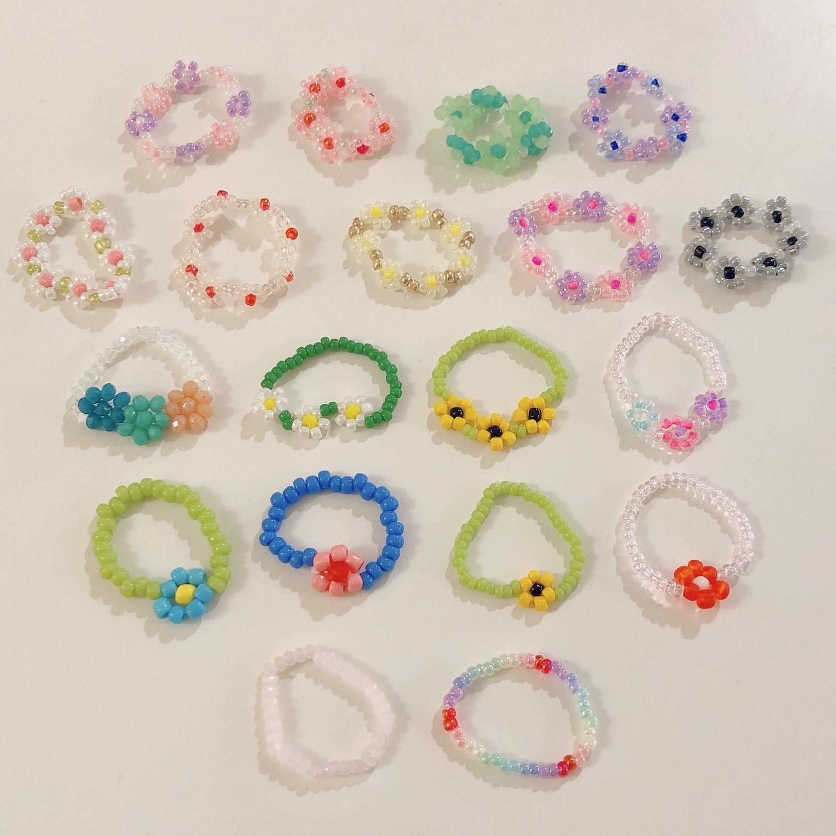 [쥬디앤마리] 비즈 반지 핸드메이드 꽃반지 공효진반지