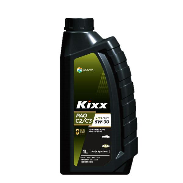 킥스 KIXX PAO C2 C3 5W30 디젤 엔진오일, KIXX PAO C2/C3 5W30(디젤용)_1L