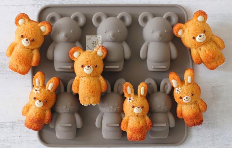 실리콘몰드 토끼 곰돌이 마들렌틀 동물 캐릭터 모양