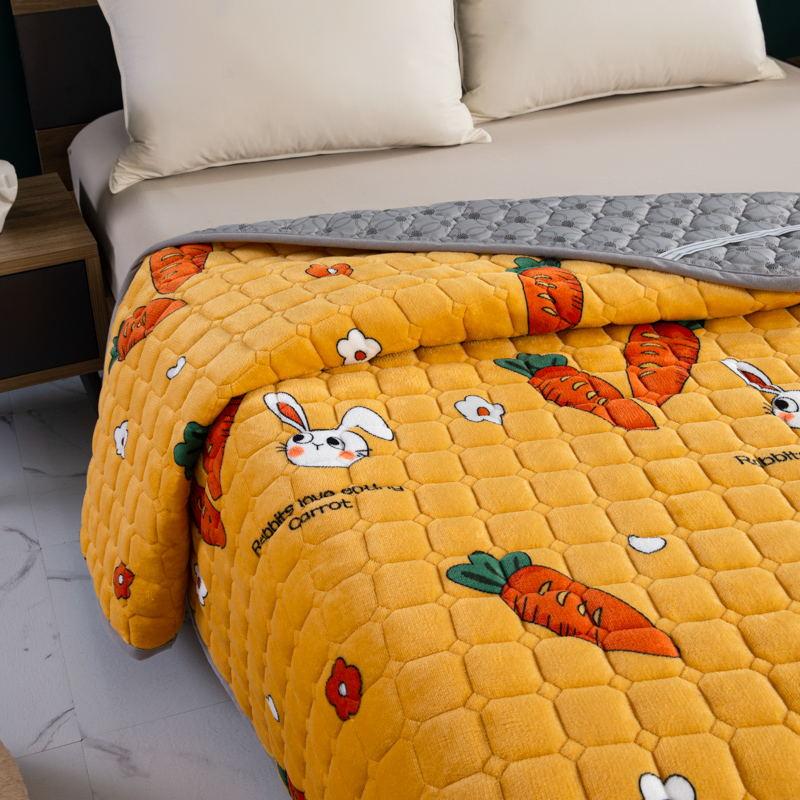 토퍼 템퍼 매트리스 침구 기타 겨울 기모 쿠션 학생 기숙사 싱글 담요 침대, AG_0.9 x 2m