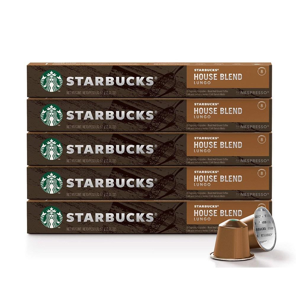 스타벅스 Starbucks by Nespresso House Blend 50 capsules 네스프레소 하우스 블렌드 캡슐 1세트, 1ml