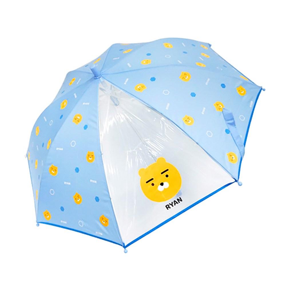 카카오프렌즈 아동 투명 자동 초등학생 지팡이 우산 53