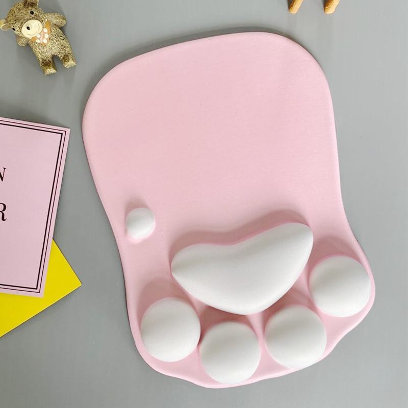똥똥몰 손목보호대 고양이발 바닥 마우스패드, 1개, 01 핑크 - 똥똥몰 dondonmall 정성배송
