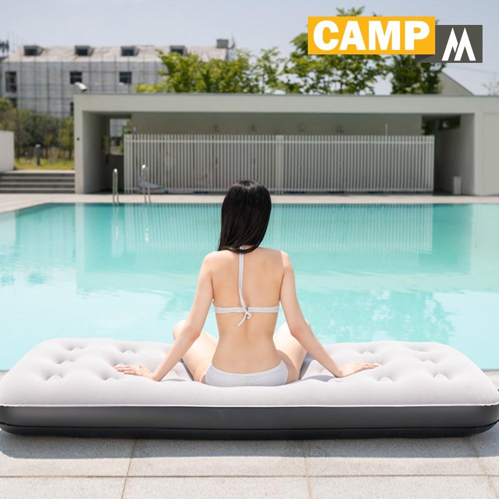 캠프엠 캠핑 에어매트 매트리스 텐트 레저 침대 두꺼운 매트 용품 에어 베드 차량 2인용 더블 사이즈, 187*134*19 에어매트 더블