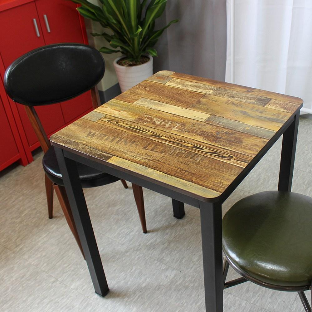 산들리빙 2인 4인 카페테이블 식탁 빈티지 티 철제 홈세트 업소용 테이블, 02_앨리스테이블600x600