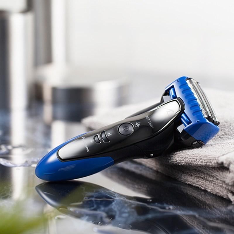 파나소닉 면도기 남성 전기 충전식 면도기 수입 수염 칼 공식 플래그십 스토어 면도기, 푸른