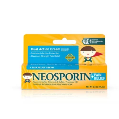 키즈용 네오스포린 어린이 연고 Neosporin Antibiotic and Pain Relieving Cream for Children, Neosporin 어린이 연고 (POP 5344994511)