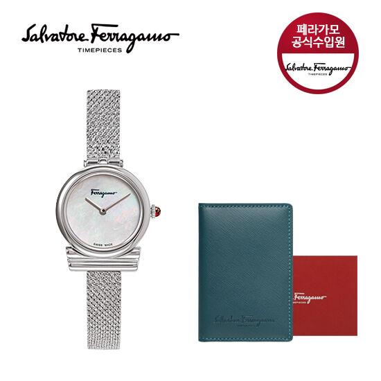 페라가모/공식수입 NEW 간치니 시계(실버)+카드지갑 SFIK007-19