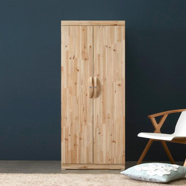 로벤 800 원목 선반 긴문옷장, 화이트삼나무