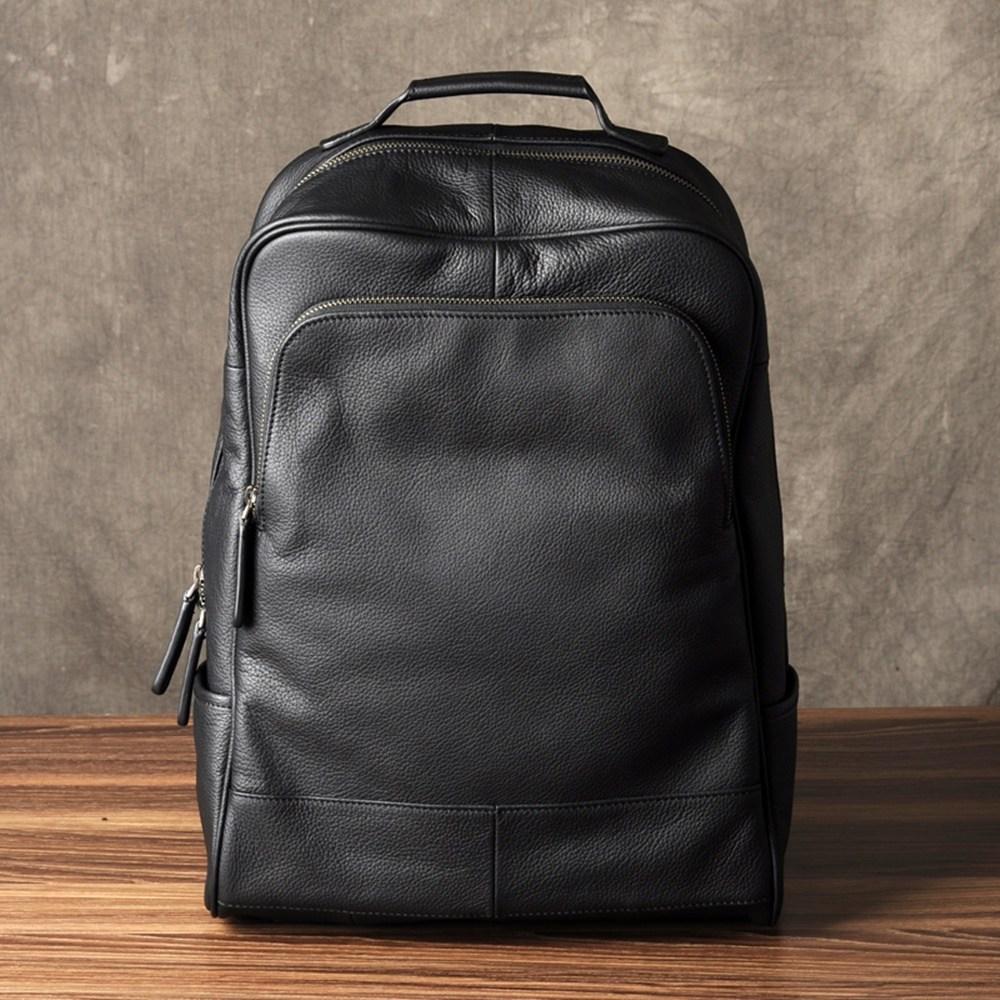 브랜드 남자명품백팩 천연 소가죽 비지니스 출장 여행용 레트로 가방