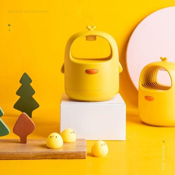 깜찍한 병아리모양 가정용 모기퇴치기 USB 야외 휴대용 모기포집기, 병아리노랑