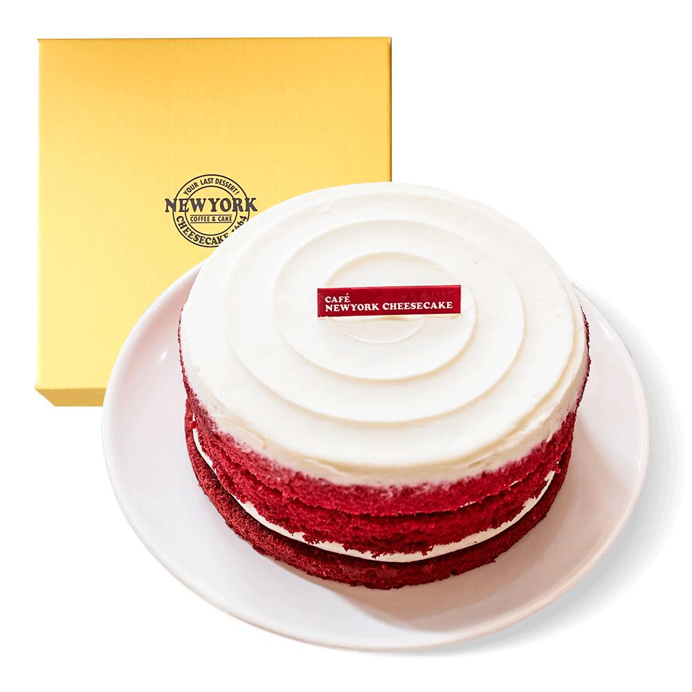 카페뉴욕치즈케익 레드벨벳 크림치즈 케이크, 1개