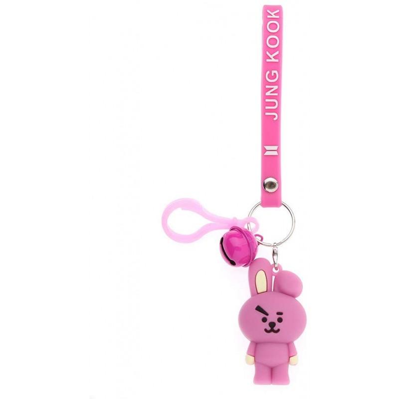 호스 스톤 Kpop BTS 키 체인 BTS 방탄 소년 실리콘 만화 캐릭터 키 체인 CHIMMY 쿠키 코이 MANG RJ 슈키
