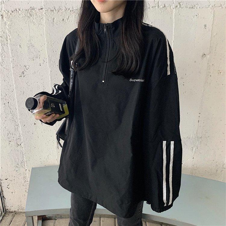 여성 바람막이 집업 자켓 야구 점퍼 루즈핏 아우터L15 李成光