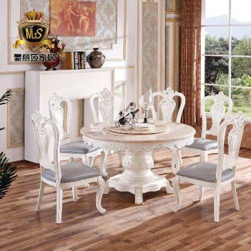 타원형 세라믹식탁 원형 6인용 이케아 유럽식 원형 식탁 원목 대리석 식탁의자 콤보 원형 접시 테이블 6-8인, 오류 발생시 문의 ( 닥터유로블 )