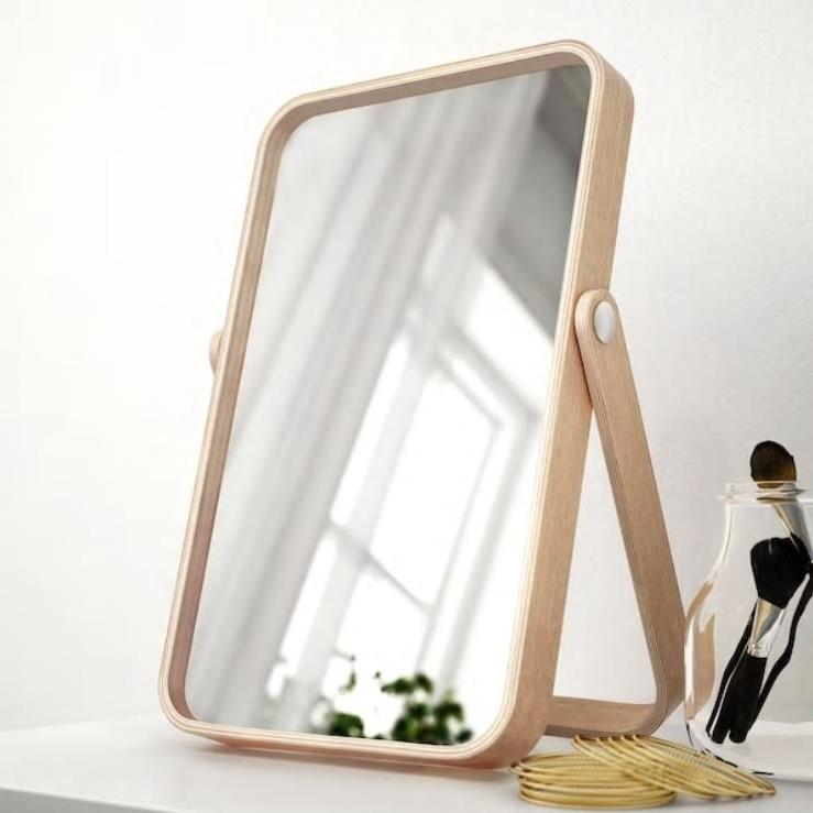IKEA 이케아 이코르네스 탁상거울, 물푸레무늬목