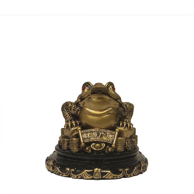 칠나무 장식품 두꺼비 풍수 대박 돈더미 삼족두꺼비 복두꺼비 수지 WDD0813-02, 사진색B