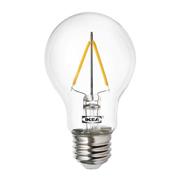 이케아 RYET 뤼에트 LED전구 E26 100루멘 1개/구형/투명/조명/전구, 없음, 구형투명_104.164.14