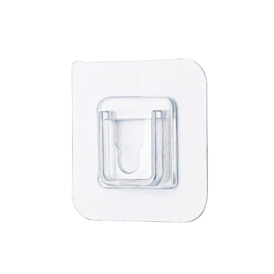 다용도 접착식 후크 벽걸이 콘센트 물건 정리 접착 투명 스티커 12세트