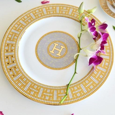 H 모자이크 명품 디자인 인테리어 고급 접시 세트, 1번