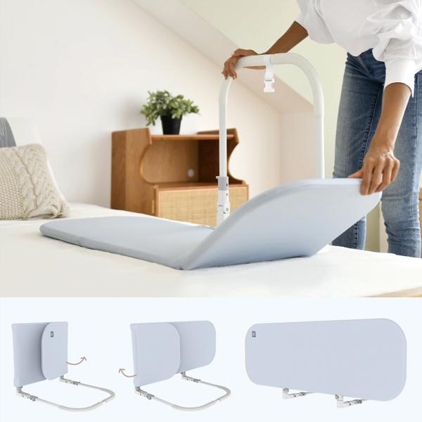 접이식 침대난간대 침대안전대 휴대용 침대가드 주니어침대안전가드, 옐로우X1개