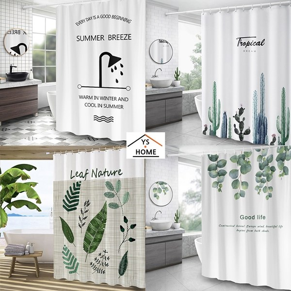 다양한 디자인 샤워커튼 모음 욕실커튼 가림막커튼, 01_헤링본 그레이M120x180/YS-05
