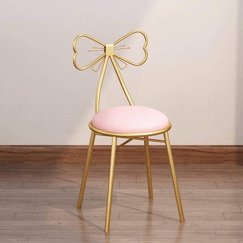 북유럽 의자 인테리어 등받이 메이크업 침실 카페 리본 화장대 거실 40대 엄마 생일 선물, E.나비의자 그린플리스방석 (POP 5636266838)