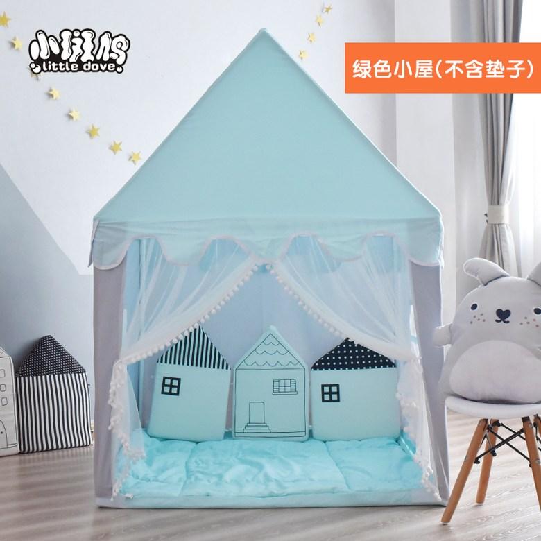 공주 아기 아동 미니 집 하우스 실내 놀이 궁전 텐트, 블루