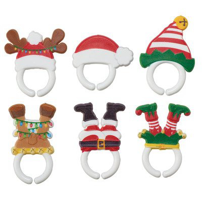 Whimsical Christmas Feet and Hats Cupcake Rings - 24 pc 기발한 크리스마스 피트와 모자 컵케익 링 - 24 pc, 1