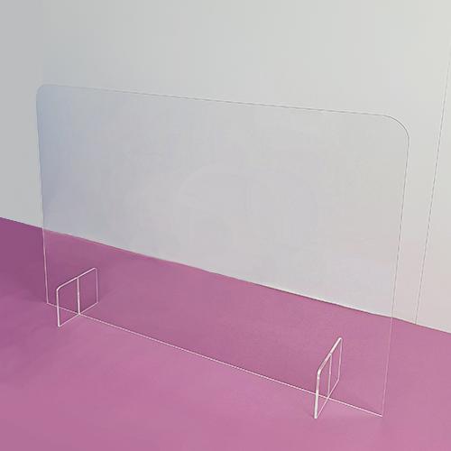 피노마켓 아크릴 투명 칸막이 일자형 가림막 은행 보건소 약국 병원 비말 차단, 60cm x 60cm(두께 3mm)