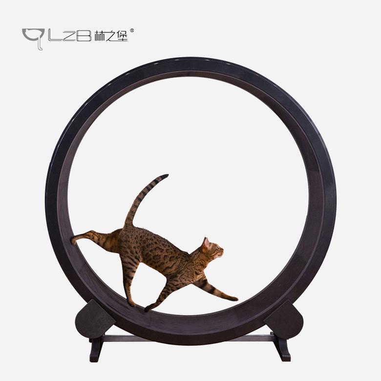 고양이 가구 장난감 diy 운동기구 워커 물레방아 캣휠 러닝머신 달리기 통돌이 쳇바퀴, 검정 + 1개