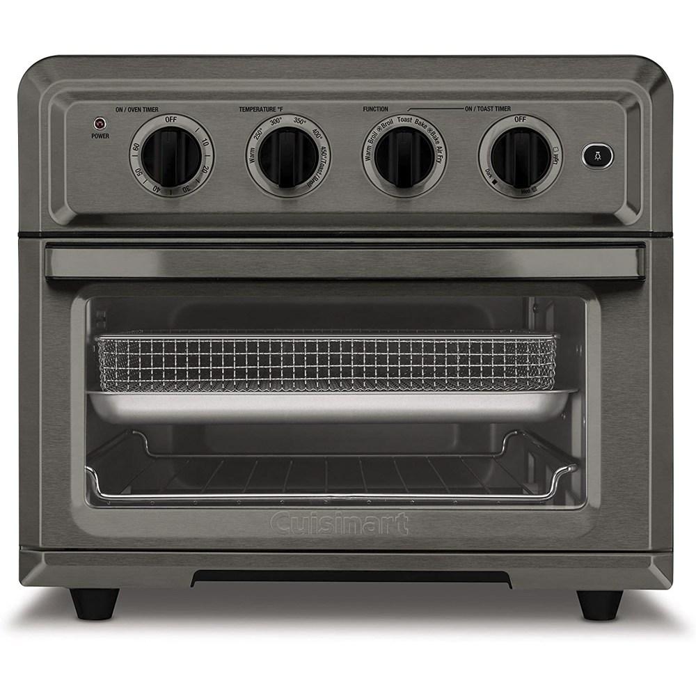 쿠진아트 6큐빅 에어프라이어 토스터 오븐 블랙 스테인레스 스틸 TOA-60BKS