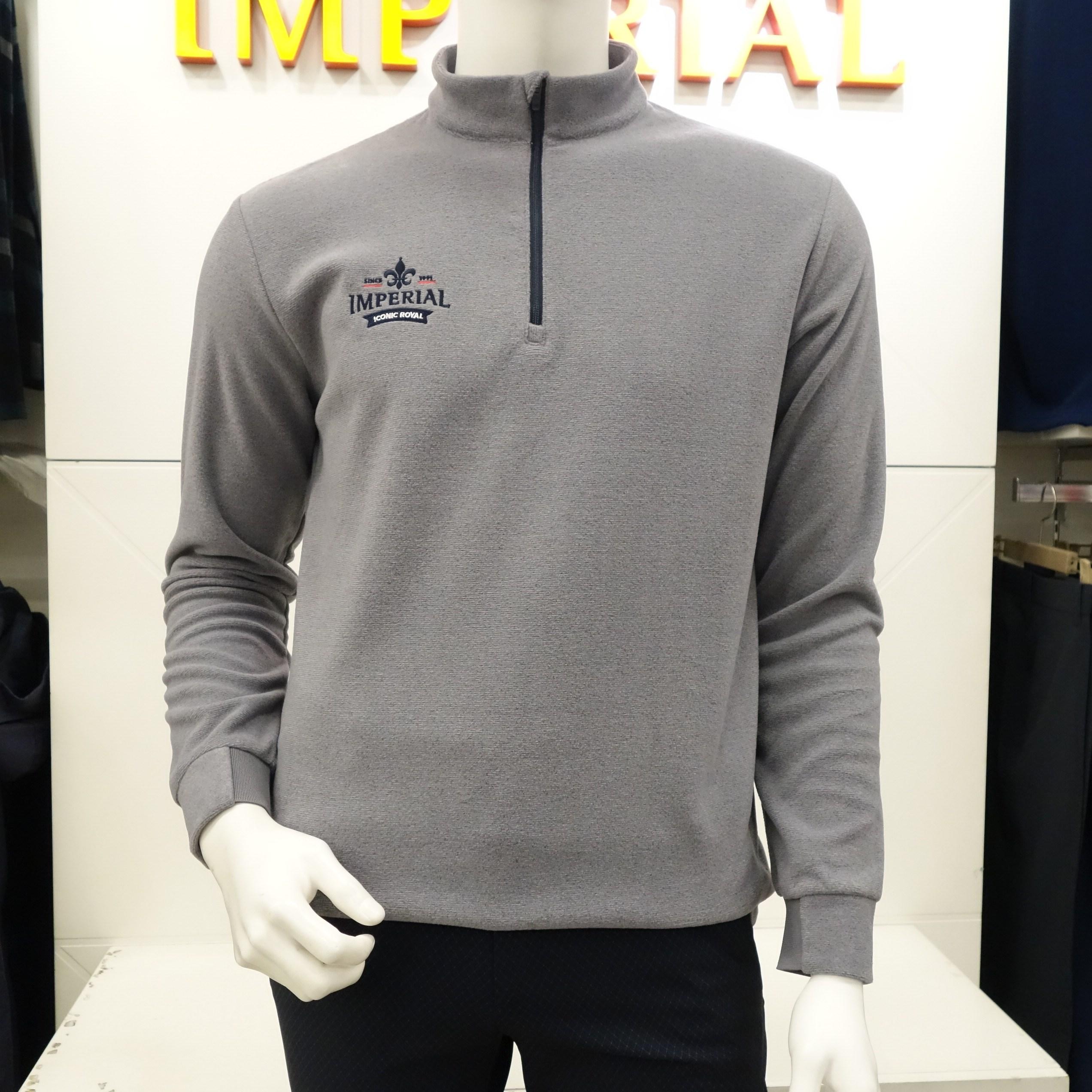 임페리얼 세가지 컬러 !!! 남성 겨울 가볍고 따뜻한 기능성 플리스 반집업 긴팔 티셔츠 I0Z1402, 라이트그레이